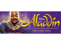 2 Tickets for Aladdin - London