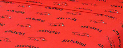 NCAA Arkansas Razorbacks Full Flat And Fitted Sheets - College Sports Bedding
