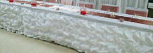 1 Beautiful Puckered table skirt