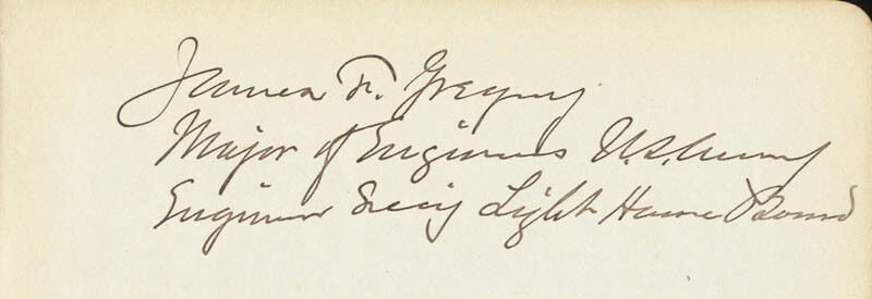 James F. Gregory - Signature(s)