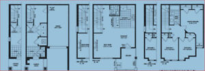 3 Bedroom Town house-2 parking