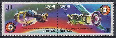 Bhutan 1975 ** Mi.624/25 A Weltraum Space Espace Apollo 18 Sojus Soyuz 19