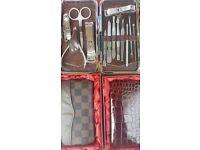 Nail Care 13 Piece Gift Set Cutter Cuticle Clipper Manicure Pedicure Kit Case