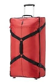 Eastpak large red holdall on wheels