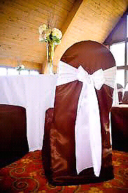 Brown Satin Banquet Chair Covers