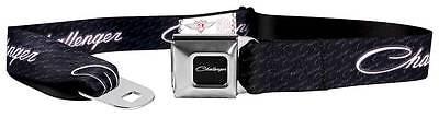 Seatbelt Men Canvas Web Military Dodge Challenger SRT HEMI Black White Quality