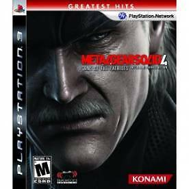 Metal Gear Solid 4 Guns Of The Patriots Game (Greatest Hits) PS3