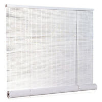PVC Roll-Up Blinds - White