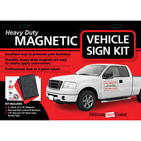 MAGNETIC VEHICLE SIGN KIT