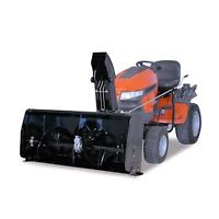 """48"""" 2 stage Berco front mount snowblower for lawn tractor."""