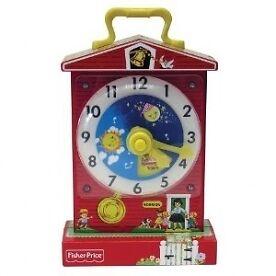 Fisher Price Childrens Classics Teaching Clock Brand New