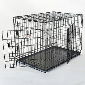 Large black dog crate 4ft - suitable for German Shepherd size dog