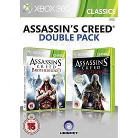 Assassins Creed Brotherhood & Revelations Double Pack Game XBOX 360