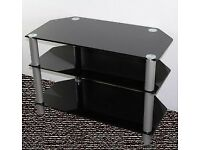 Black and sliver tv stand (pictures can be sent)