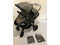 iCandy Peach Blossom Pram Double Pushchair Brand New Unused with 2 seats, Raincovers & Adaptors