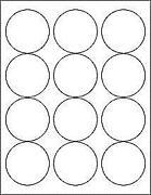 White Round Stickers