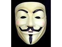 New V for Vendetta Mask Guy Fawkes Anonymous Halloween Masks fancy dress costume