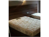 """4ft 6"""" bases (from Jury's hotel) with new semi orthopaedic mattress"""