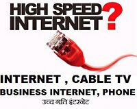 UNLIMITED INTERNET,  CABLE TV,  HOMEPHONE,  BUSINESS INTERNET