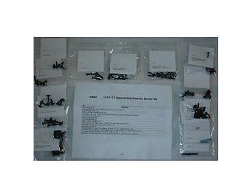 87 88 89 90 91 92 93 Mustang Convertible Interior Hardware Kit