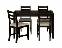 LERHEMN IKEA BAR HEIGHT TABLE AND CHAIRS
