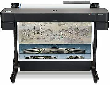 Hp Designjet T630 36 Wide Large Format Wireless Printer Color Plotter Cad New