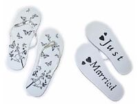 Just Married Flip Flops Brand New in Packaging Size 4/5