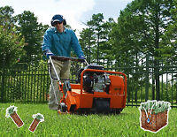Lawn Aeration & Mechanical Dethatching Services / Seed & Fert.