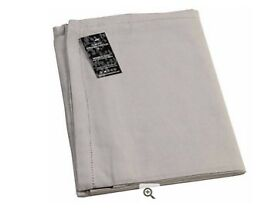 "Plain dove grey round cotton weave tablecloth (70""/ 177.8cm)"