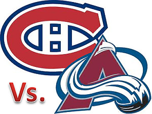 4 billets collés Blanc Central AA Canadiens vs Avalanches 12 jan