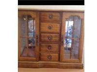 LARGE WOODEN JEWELLERY CABINET/BOX