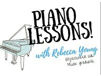 Piano teacher offering piano lessons, all ages and abilities
