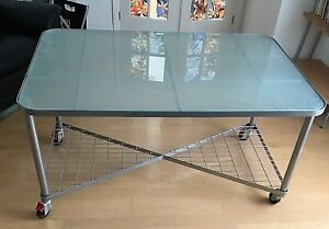 Glass table (from Ikea)