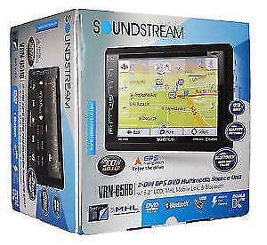DVD GPS USB NAVIGATION BLUETOOTH STEREO NEW SOUNDSTREAM VRN-PRO