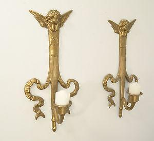 vintage brass wall sconce candle