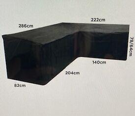 Garden Furniture Cover L-Shaped (Black)