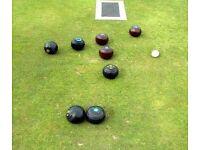 set of four black bowls