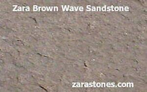 Brown Wave Square Cut Paving Stone Sandstone Flagstone Pavers