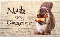 """""""Nutz About Camping"""" Mat Cambridge Kitchener Area Preview"""