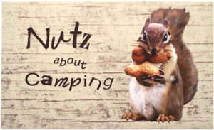 """""""Nutz About Camping"""" Mat"""