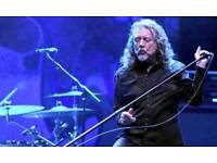 FACE VALUE Robert Plant Tickets - BEST SEATS - Manchester Apollo - 30th November 2017