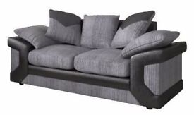 Unwanted High End 2 Seater Black and Grey Sofa