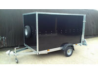 Box Trailer Tickners GP 9' x 5' x 5' in Black with Ramp