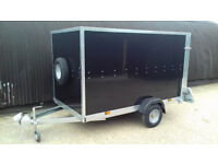 Trailer Tickners GP 9' x 5' x 5' Box Trailer in Black with Ramp