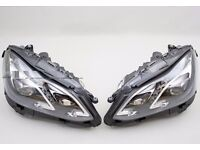 Used original left hand drive Bi-xenon headlights European model Mercedes E Class W212 2010 -2016