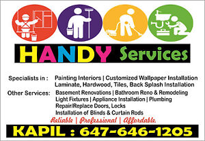 HANDYMAN- Paint|Wallpaper|Backsplash|Laminate|Appliance Instl