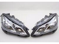 Car part: Used OEM left hand drive Bi-xenon ILS headlights Mercedes E Class W212 2010 -2016