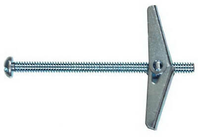 Toggle Bolt, Spring Wing, Round Head, 3/16 x 4-In.