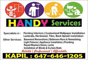 Handyman-TILES,LAMINATE,BACK SPLASH,PAINT JOB, WASHROOM RENO