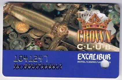 Excalibur Crown Club  Casino Slot Card Las Vegas Nevada